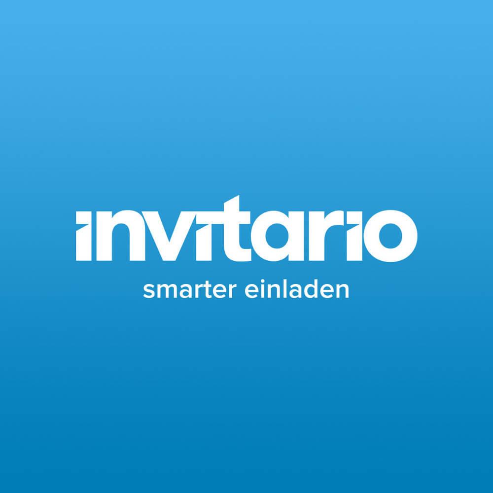 Das Logo: Der Schriftzug verkörpert mit seiner klaren Struktur die effizienten und klaren Prozesse des Einladungs- und Teilnehmermanagements mit Invitario.
