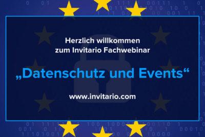 Invitario Fachwebinar Datenschutz und Events