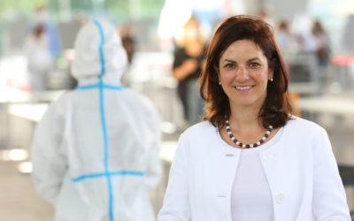 Livestream mit Dr. Susanne Baumann-Söllner zum Pilotprojekt mit über 2.000 Antigen-Schnelltests